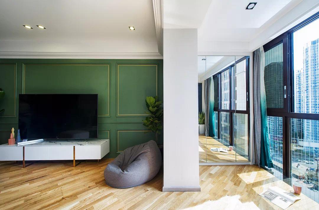 渐变色、玻璃房,这套150m²现代轻奢风的细节精致到了骨子里 现代轻奢 第4张