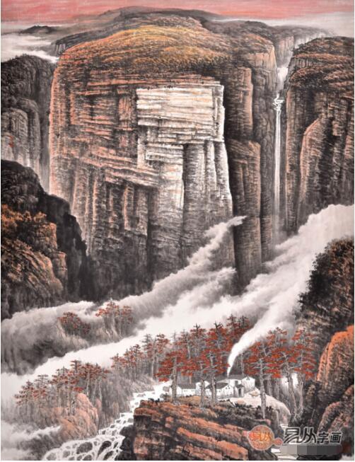 广西走出来的实力派山水画家李林宏,妙笔生花绘秀丽山河