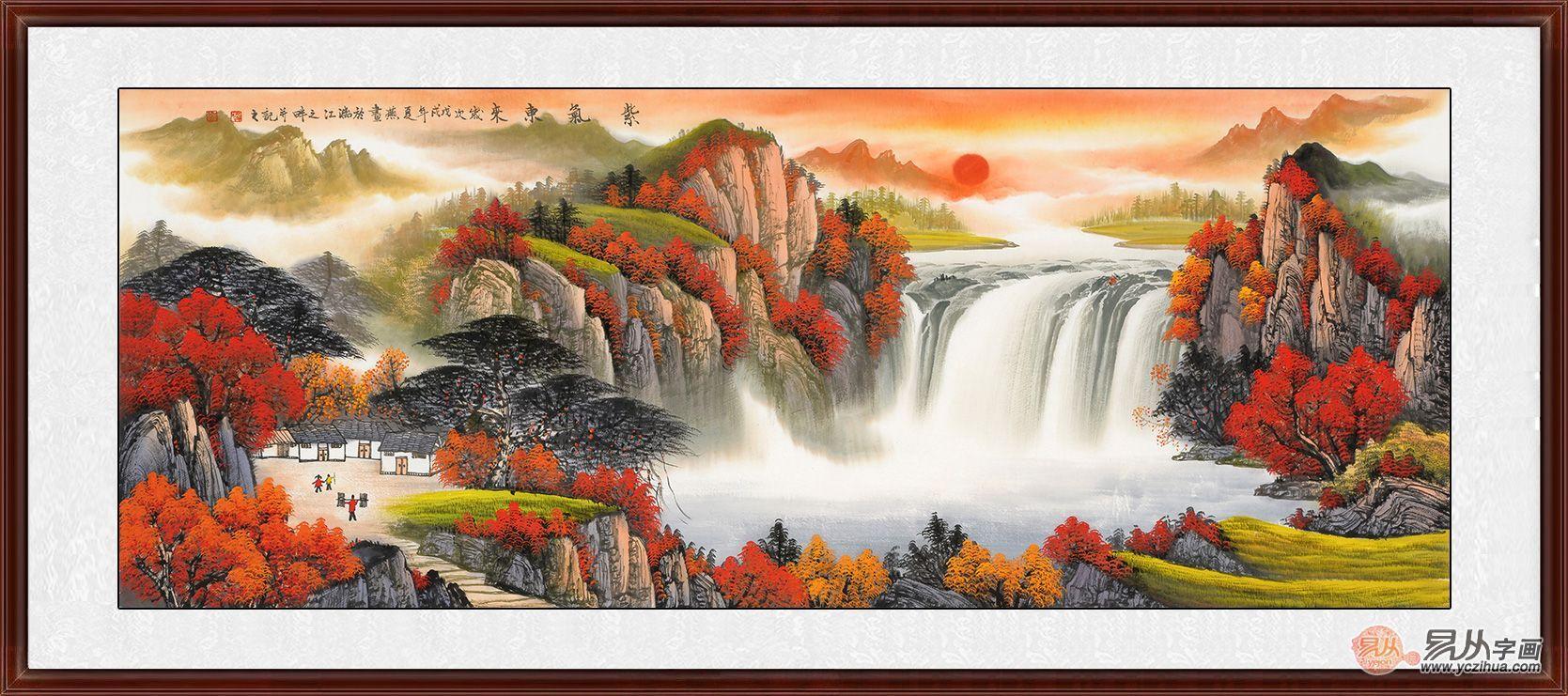 精美自然山水客廳裝飾掛畫,低調奢華的舒適