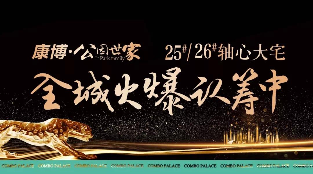康博•公园世家25#26#央景轴心大宅,全城火爆认筹中