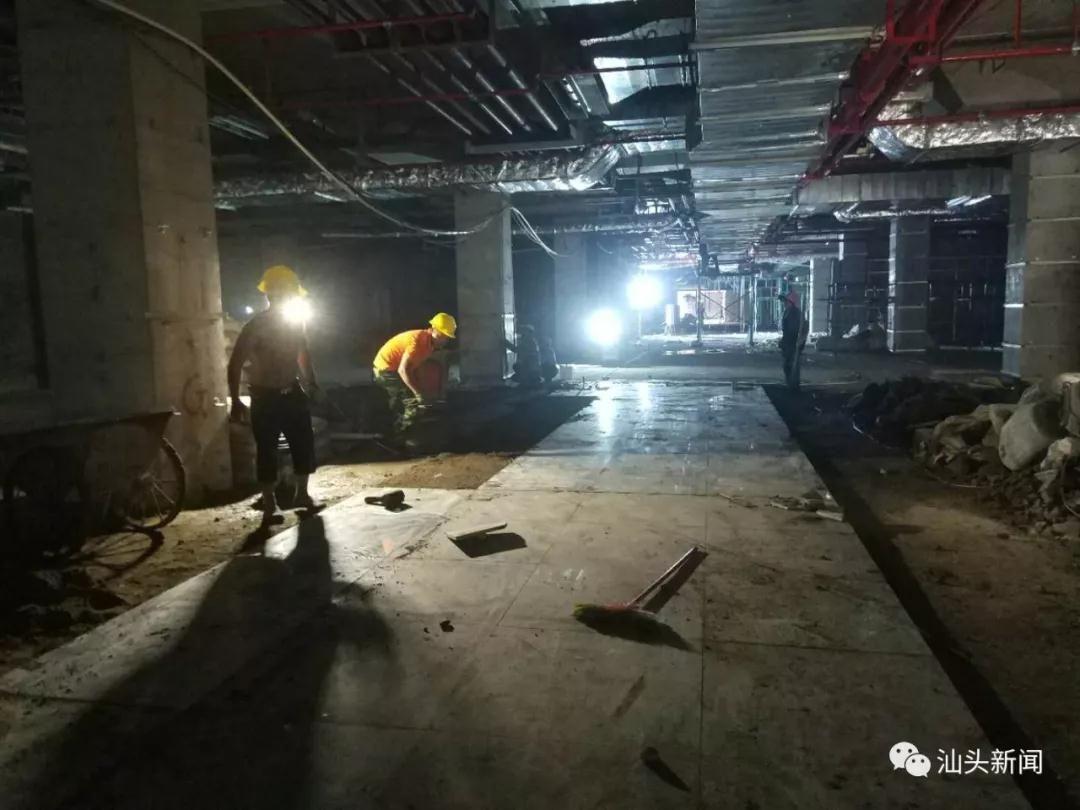 迎接动车组进汕,汕头火车站站台轨道实施升级改造