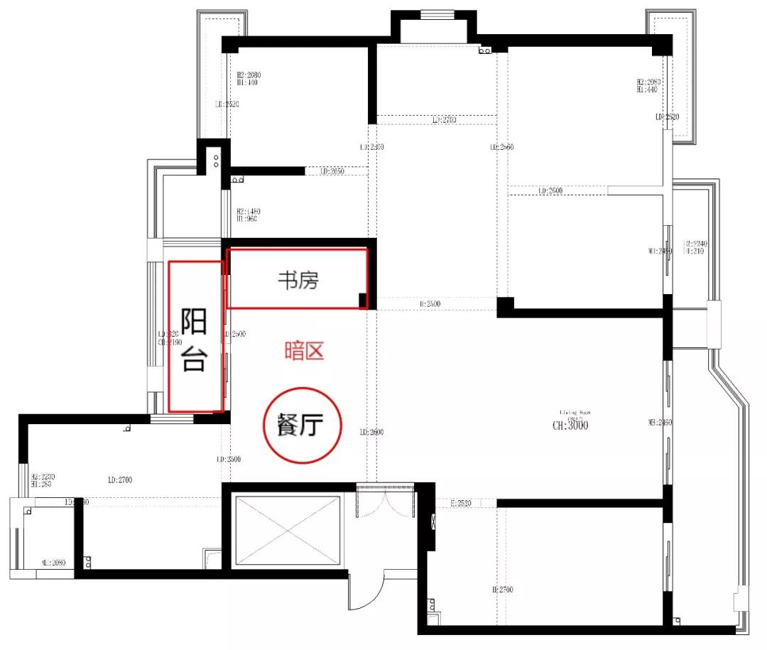 190平大空间户型重改,打造低调完美的舒适生活 装修 第6张
