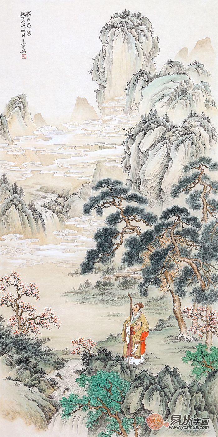 家里的艺术搭配:画家王宁古韵山水画作品欣赏
