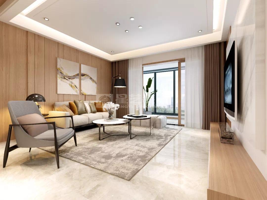 美的林城简约五居室 于温存的空间中窥见品质生活