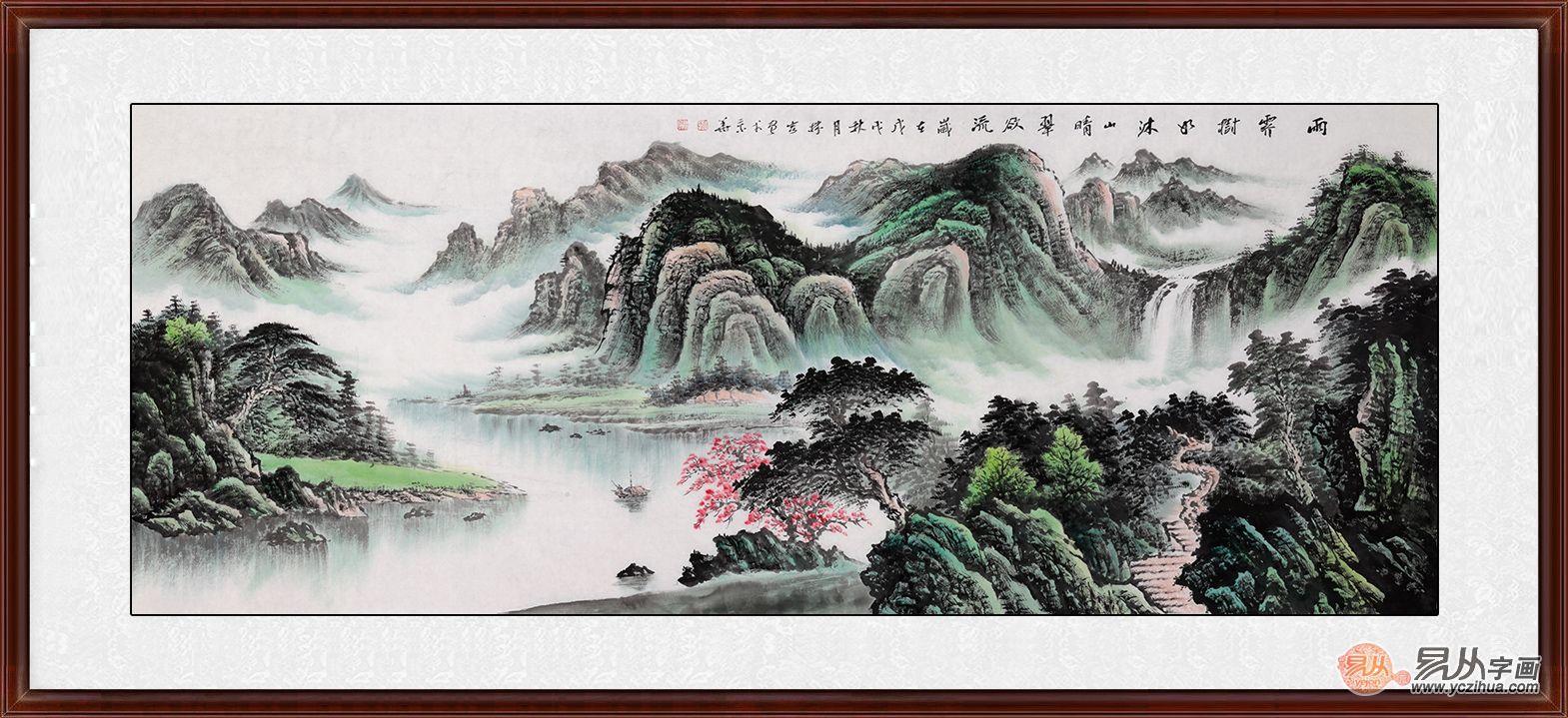 酒店装饰画的选择:环境氛围很重要,三大题材山水画塑造绝佳酒店