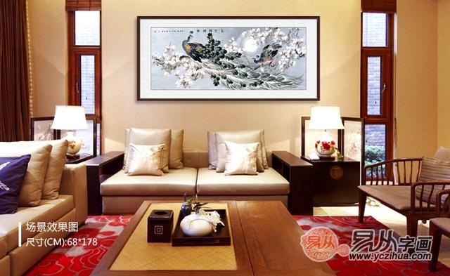 室内挂画的选择,家中挂孔雀图的寓意