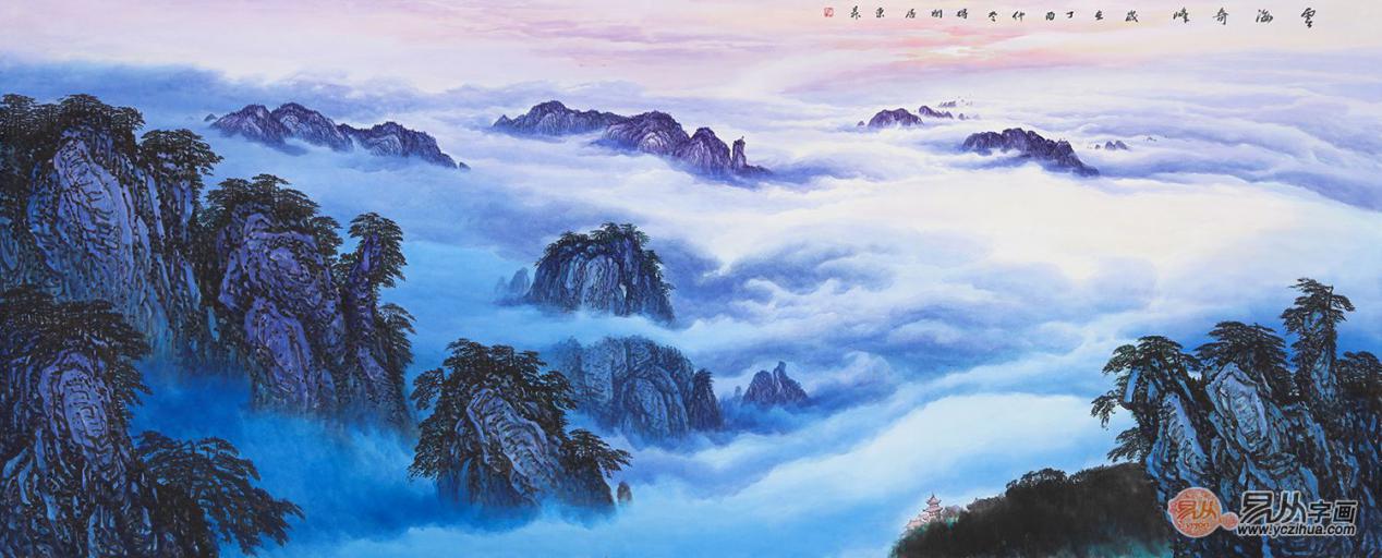 当代实力派画家赵洪霞,清绝野逸仙境的精美山水画