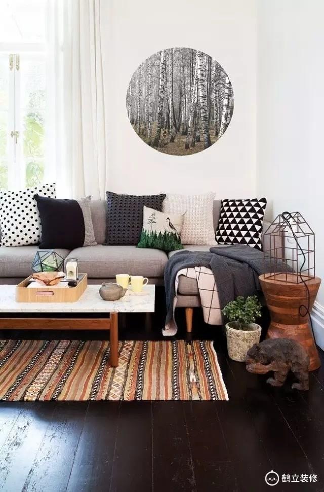南京鹤立装修:沙发背景别放空,这样设计美翻了