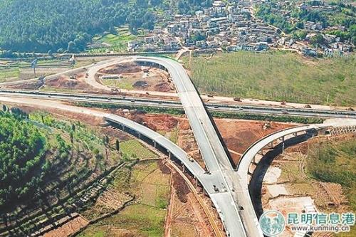 昆石高速马郎立交主体工程完工 年底前通车