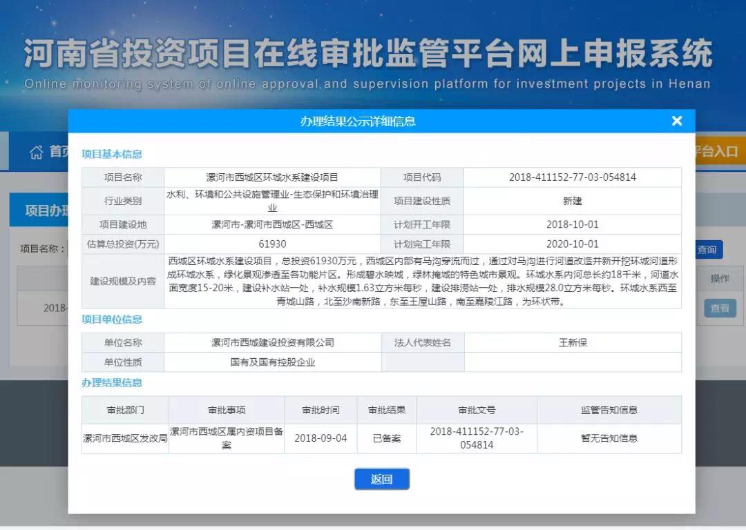漯河西城区环城水系项目即将开工,水韵西城终将绽放!