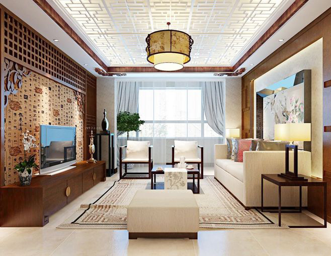 中式别墅设计,在有限的空间里体现无穷的中式意境|优惠活动-辽宁林凤装饰装修工程有限公司抚顺分公司