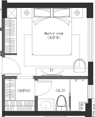 100平米三室一厅,吧台、书房和储物空间,一个都不能少! 装修 第13张