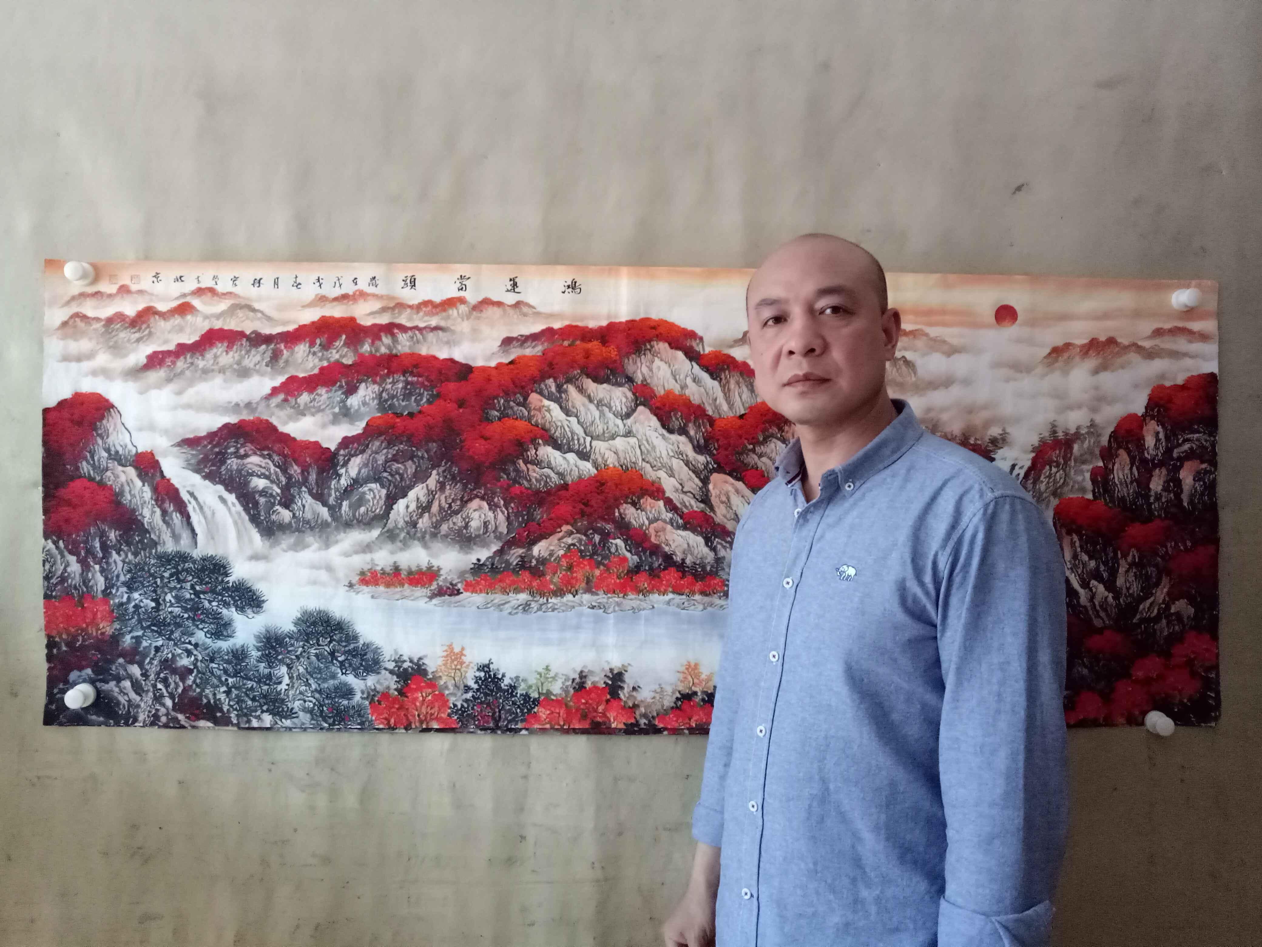 当代风水画家李林宏,画中风水寓意详解