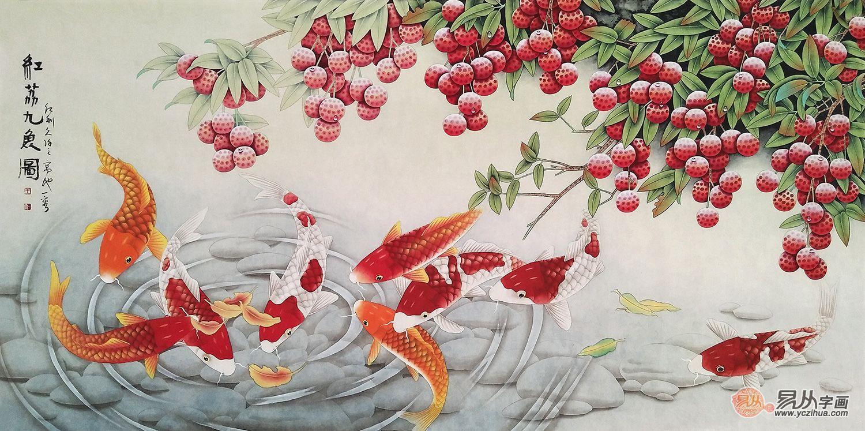 自家客厅墙壁挂画就挂花鸟画,这四款不容错过