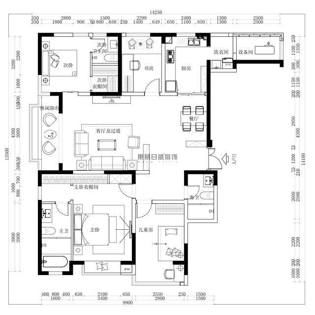 东润泰和158㎡四口之家,房子可以简简单单,生活却是不可以将