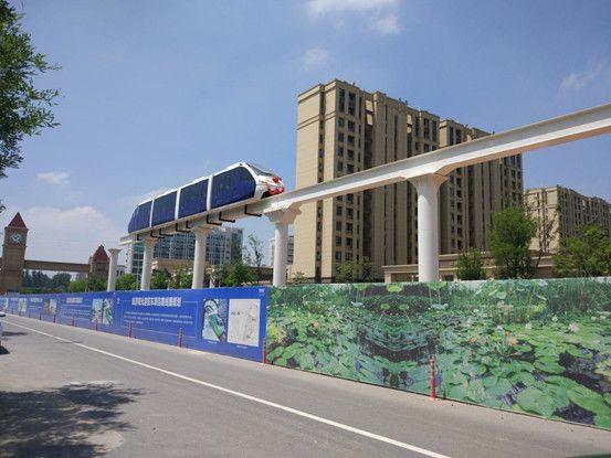 阜阳首辆城市高架观光车最新进展:一期轨道已建至刘锜路