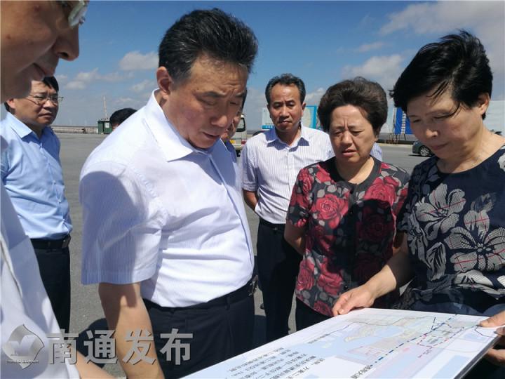 陆书记调研通州湾,强调以国际化标准开发建设