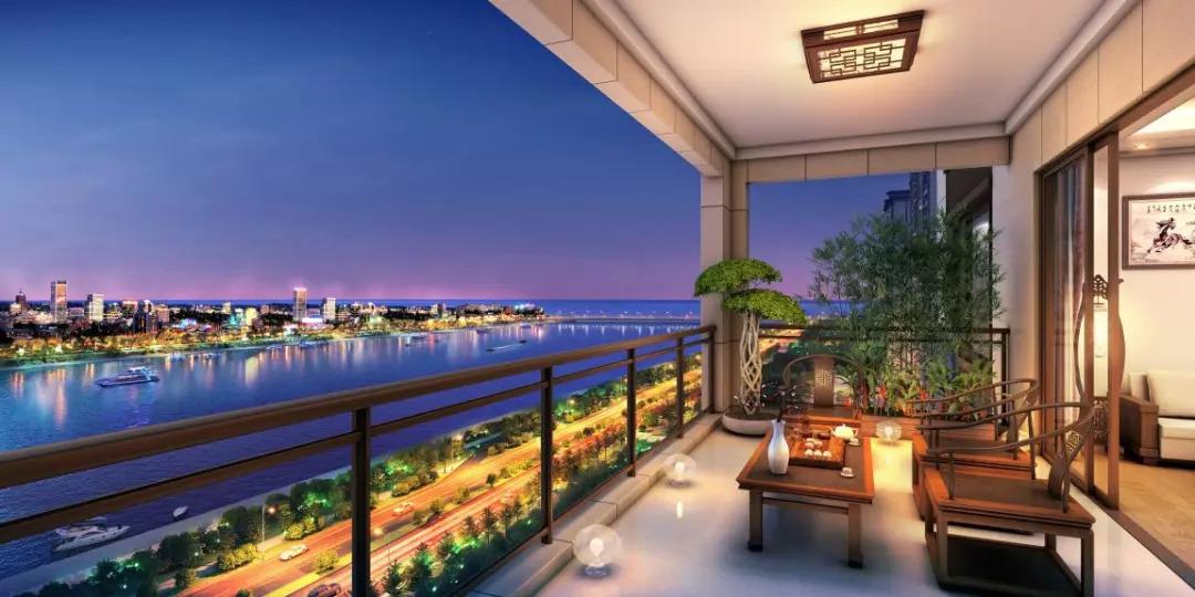 御海尚品7.3米大横厅,IMAX环幕瞰新津河