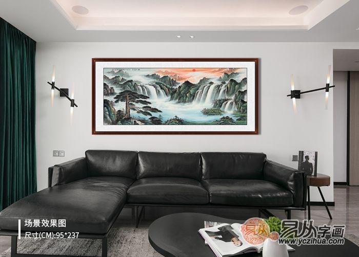 现代风格客厅装饰画怎么选择才能和家居协调