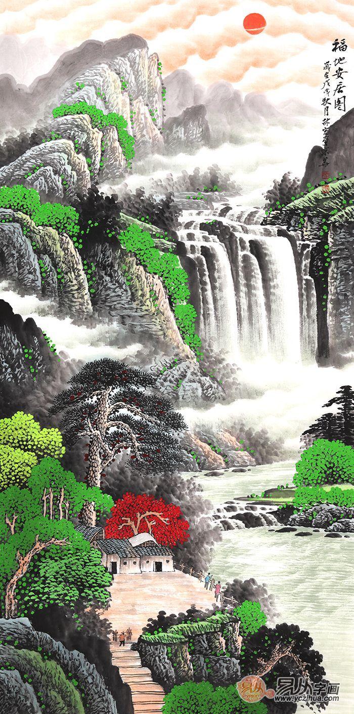 擅长山水画的画家李林宏,优雅山水打造美好生活