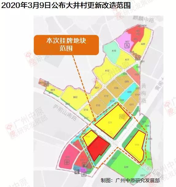 2020年3月9日公布大井村更新改造范围