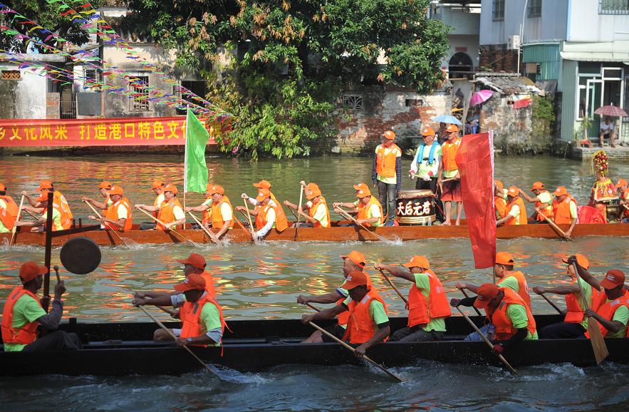 民俗巡游、龙艇大赛,港口镇水乡文化节很精彩