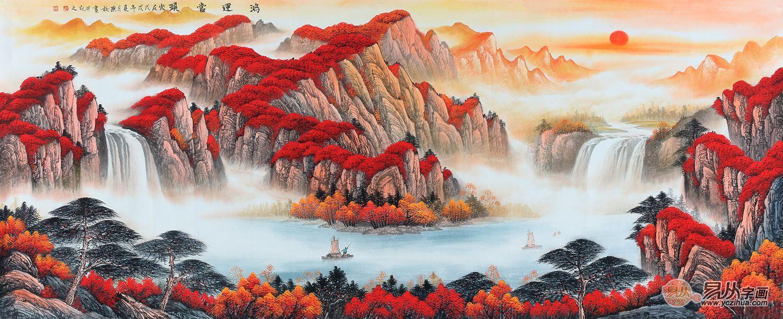 当代画家刘燕姣的雅致山水,跃然纸上,栩栩如生