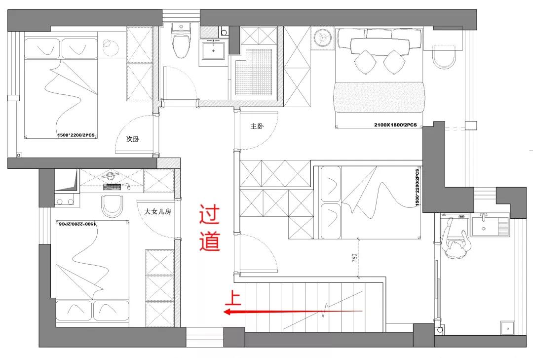 设计师50m²魔改五房,六口之家一点都不挤! 设计师 第8张