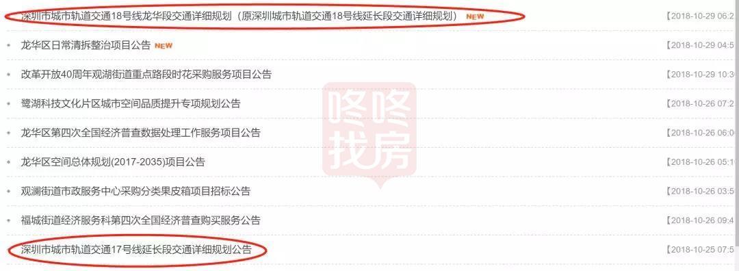 龙华没有新地铁?深圳地铁17、18号线开始前期招标