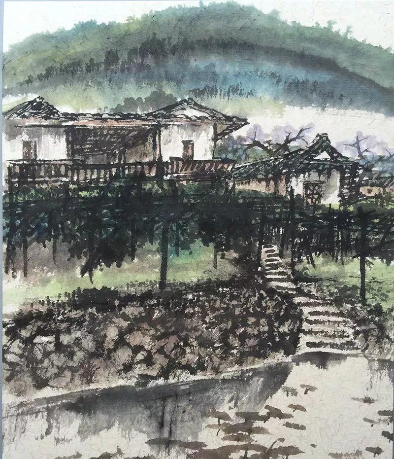 一笔勾勒江南美,国画名家雨山教授 珍藏书画展即将亮相桂山院子