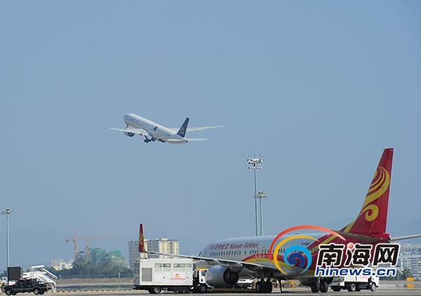 国庆黄金周三亚凤凰机场预计运送旅客38.4万人次