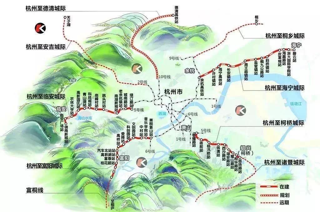 杭州都市圈8条城际铁路已有4条在建