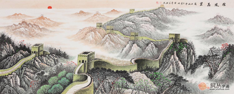 万里长城今犹在—赏画家李林宏笔下的长城国画
