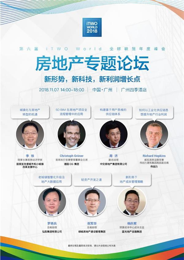 科技释放利润空间—iTWO World全球峰会房地产专题论坛