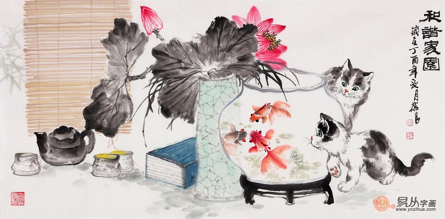 关于客厅装饰挂画,这些旺风水的花鸟画千万别错过