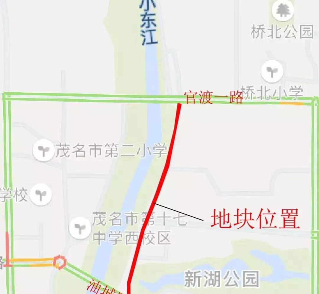 茂名小东江风情步行街即将动工