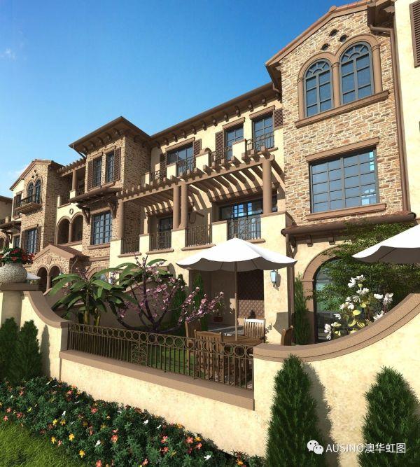 安吉龙王溪售楼处、一个建在山坡上的别墅、自带高尔夫球场
