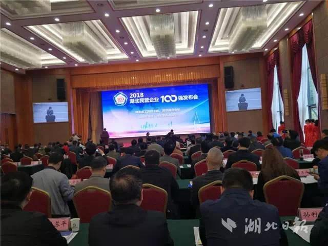2018湖北民营企业100强出炉!宜昌这8家企业上榜!