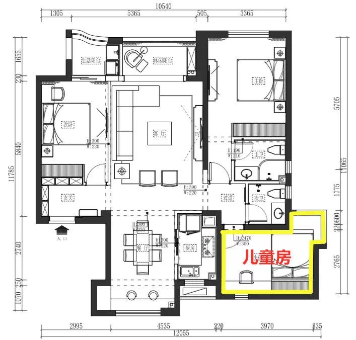 95后创业夫妻,为孩子装了这样一个现代黑白风格的家! 装修 现代黑白风格 第10张