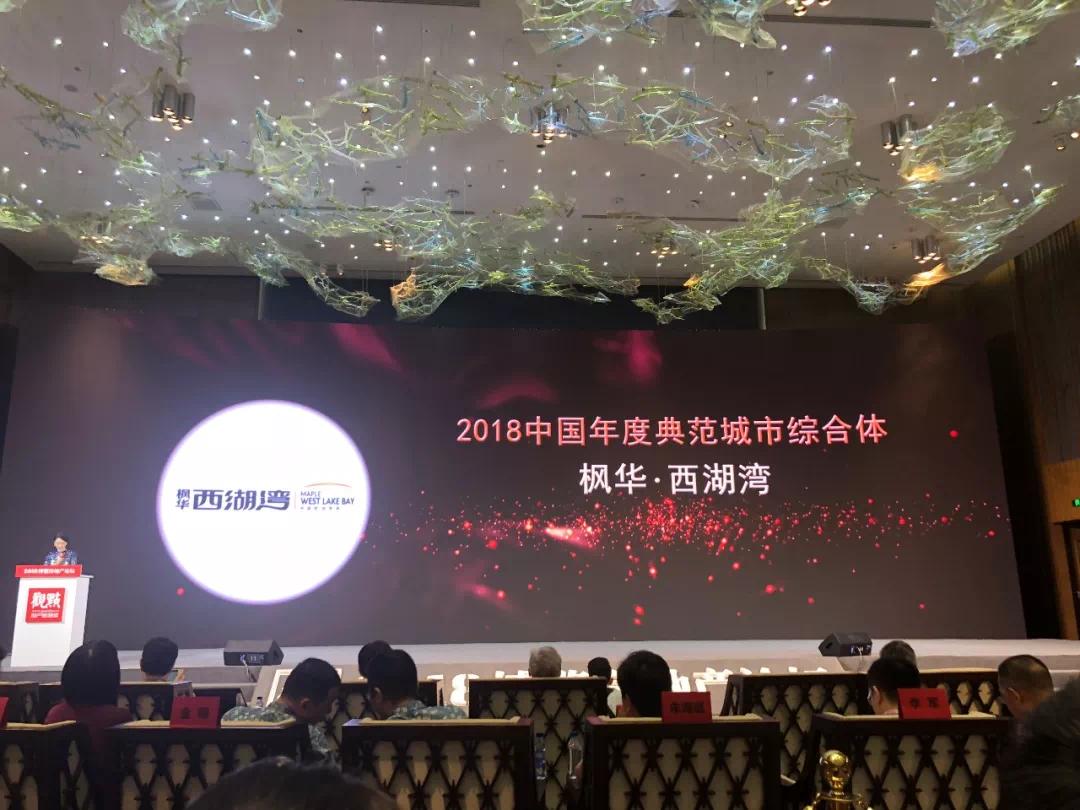 """新枫华置业喜获""""中国年度典范城市综合体""""奖项"""