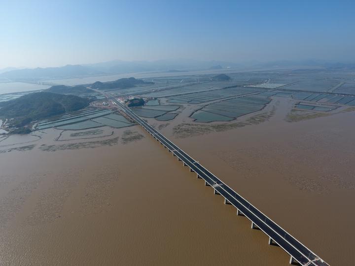 三门湾大桥的台州段基本具备通车条件!沿海大通道指日可待
