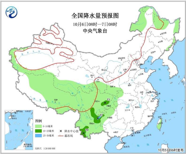 """受台风""""康妮""""影响 云南西部将出现中雨或大雨"""