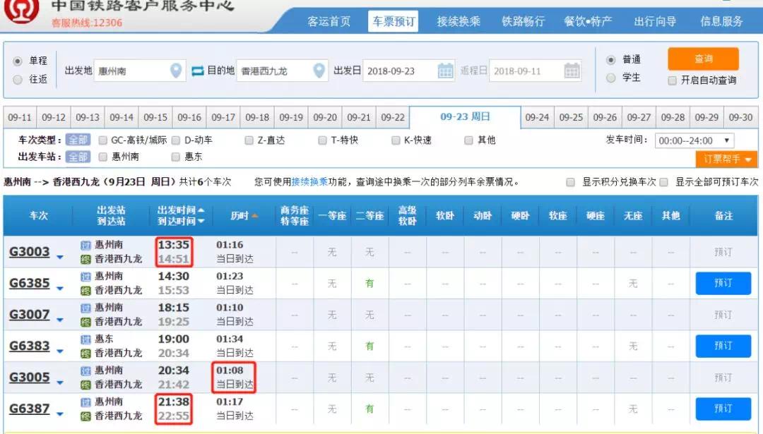 最全攻略!广深港香港段高铁票已开售,95元惠州南直达西九龙!