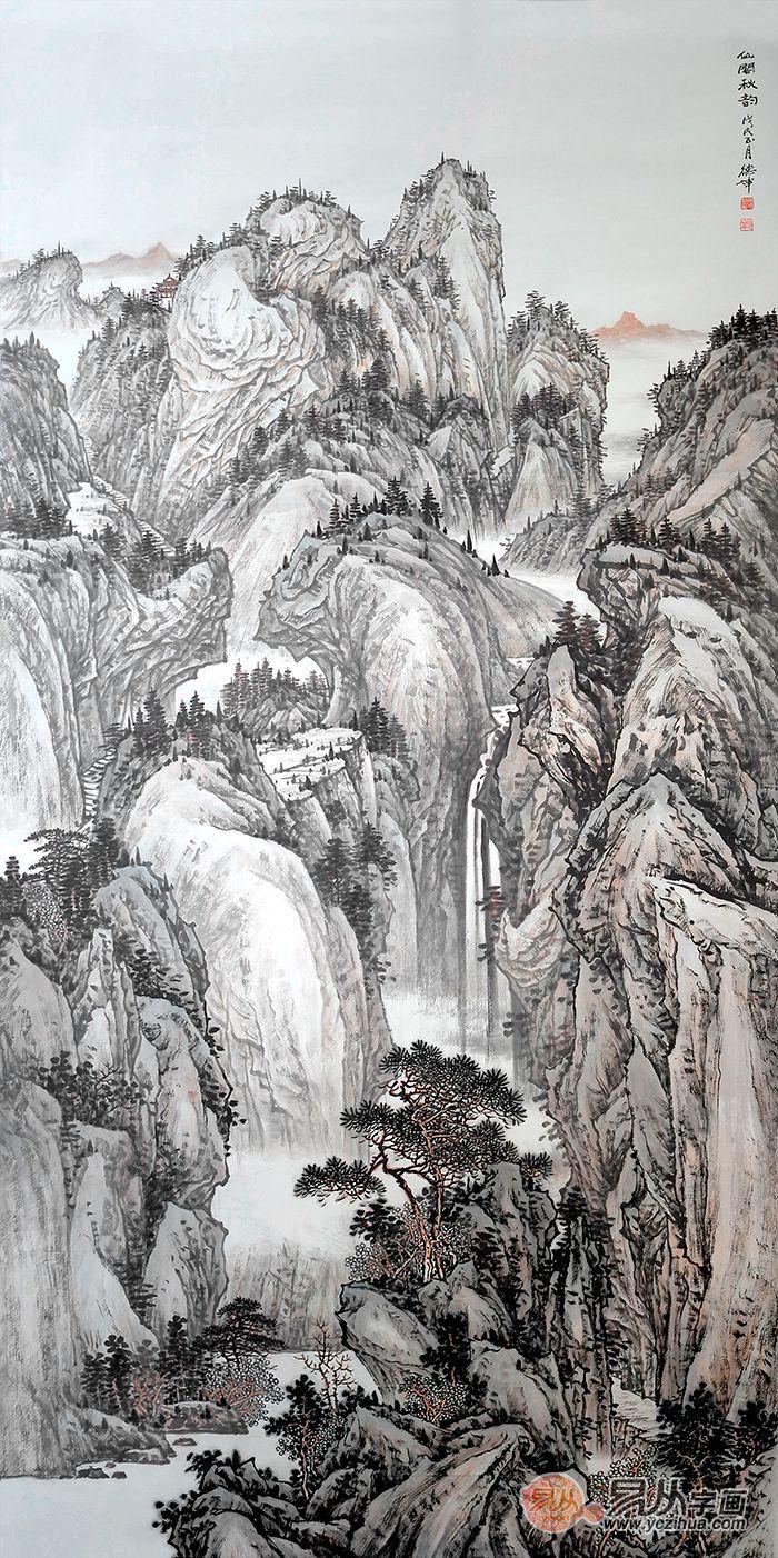 艺术品鉴:醉心山水间的林德坤