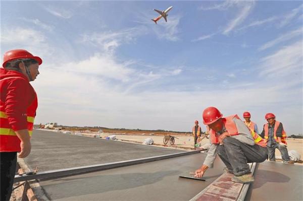 三峡机场二期改扩建项目——飞行区工程施工进度过半
