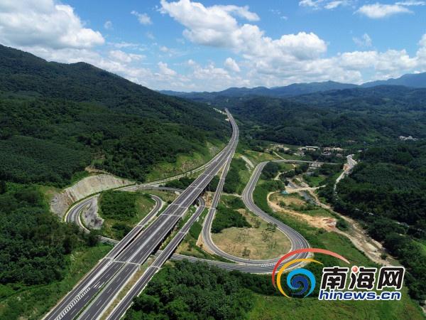 琼乐高速将于9月底通车 中线高速将实现全线贯通