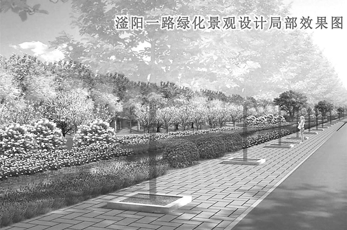 衡水市区滏阳一路提升工程启动:打造海棠一条街