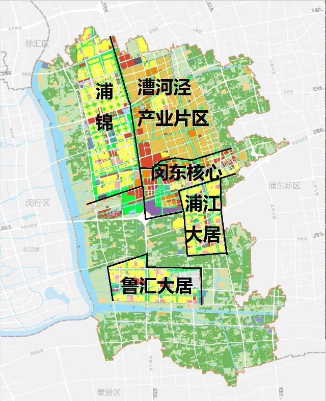 闵行区浦江新市镇总规正式公布 这个版块将是未来的核心区