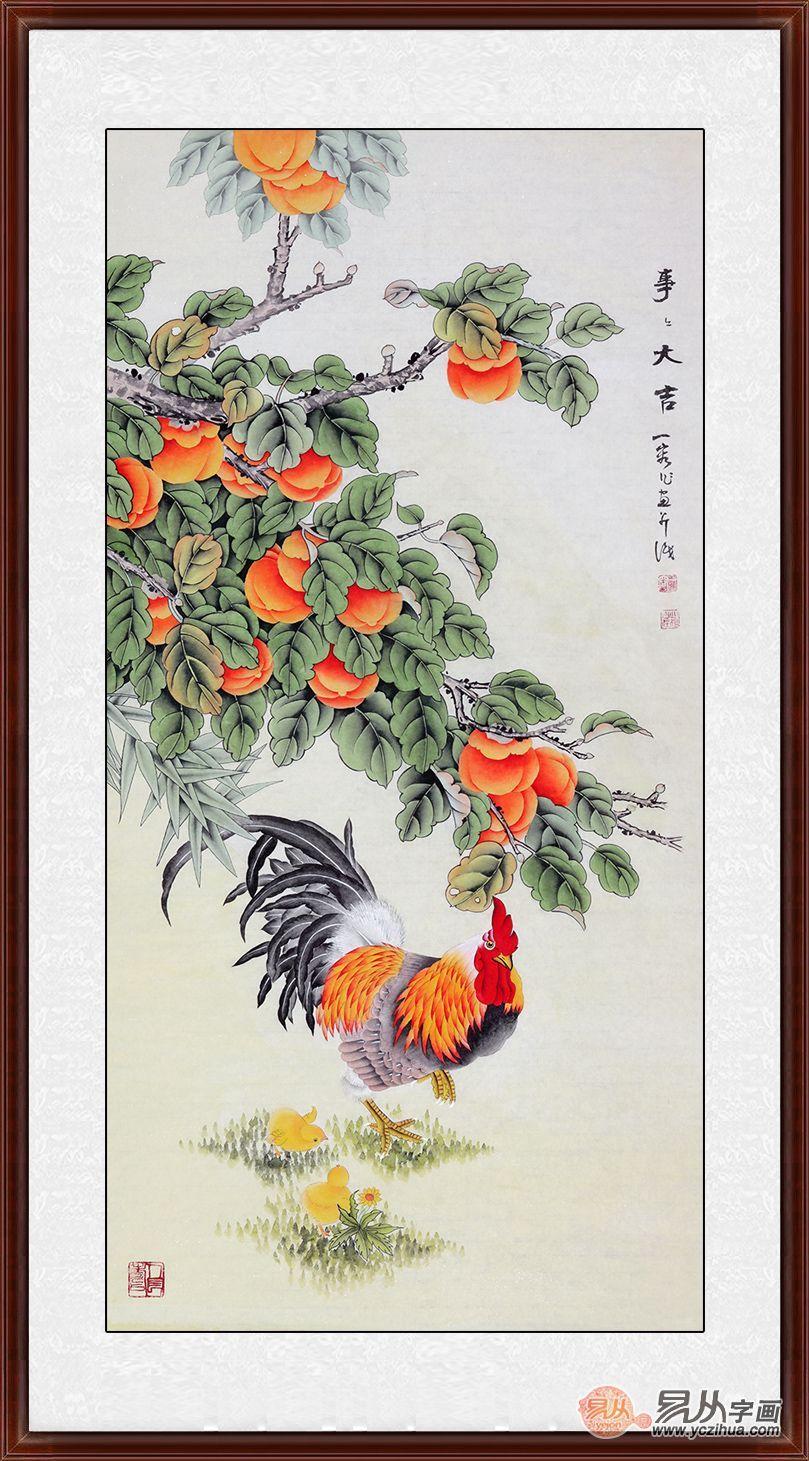 装饰玄关挂什么画 进门看到这5款花鸟画最让人惊艳