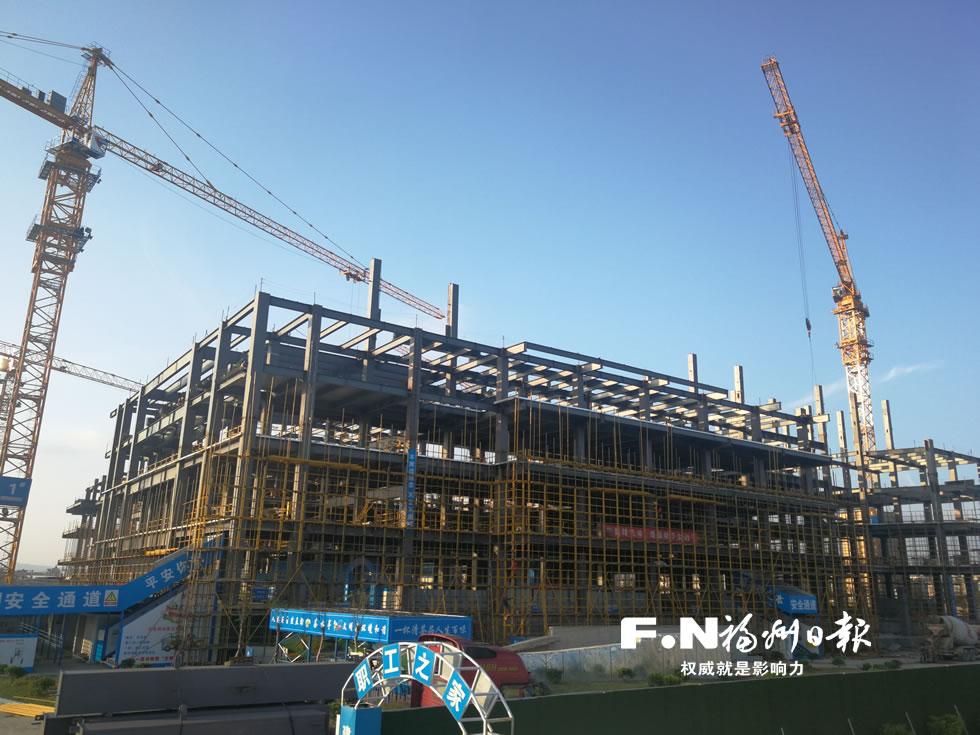 海峡青少年活动中心主体结构月底封顶
